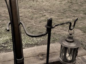 Musket and Lamp Stand - detail